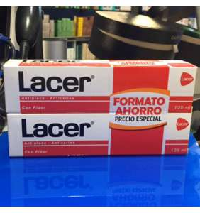 Lacer pasta dental 125 ml duplo (formato ahorro 2 pastas de 125 ml)