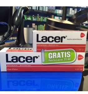 Lacer pasta dental 125 ml (pasta lacer regalo de 35 ml)